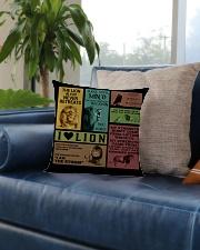 LION Square Pillowcase aos-pillow-square-front-lifestyle-02