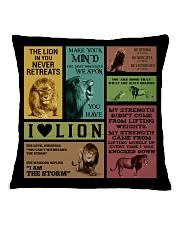 LION Square Pillowcase back
