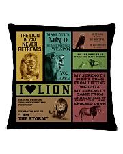 LION Square Pillowcase front