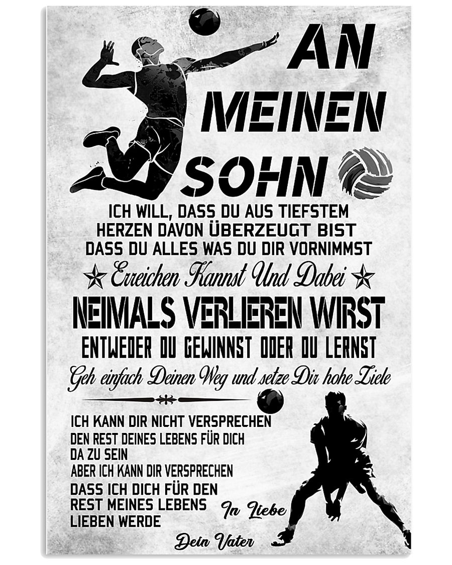 volleyball poster-to son-never lose german vs3 11x17 Poster