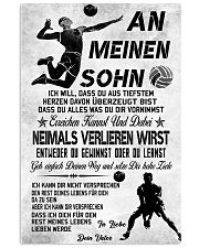 volleyball poster-to son-never lose german vs3 11x17 Poster front