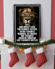 LION - GOD DOESN'T GIVE 16x24 Poster lifestyle-holiday-poster-4