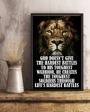 LION - GOD DOESN'T GIVE 16x24 Poster lifestyle-poster-3