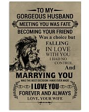 LION - TO MY GORGEOUS HUSBAND 16x24 Poster front