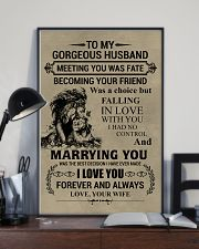 LION - TO MY GORGEOUS HUSBAND 16x24 Poster lifestyle-poster-2