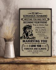 LION - TO MY GORGEOUS HUSBAND 16x24 Poster lifestyle-poster-3