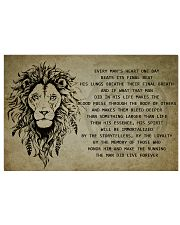 LION 17x11 Poster front