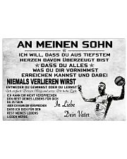 volleyball poster - to son-never lose german vs2 17x11 Poster front