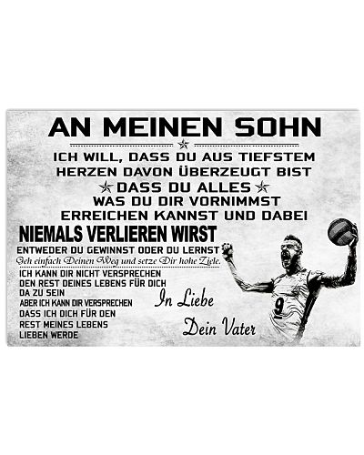 volleyball poster - to son-never lose german vs2