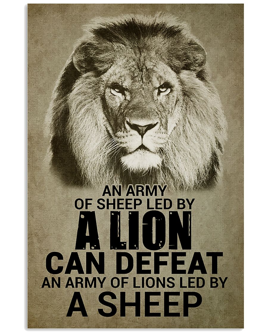LION - AN ARMY OF SHEEP LED BY LION 16x24 Poster