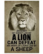 LION - AN ARMY OF SHEEP LED BY LION 16x24 Poster front