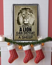 LION - AN ARMY OF SHEEP LED BY LION 16x24 Poster lifestyle-holiday-poster-4