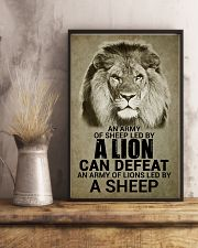 LION - AN ARMY OF SHEEP LED BY LION 16x24 Poster lifestyle-poster-3