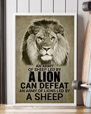 LION - AN ARMY OF SHEEP LED BY LION 16x24 Poster lifestyle-poster-4