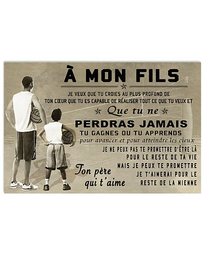 volleyball poster - to son-never lose french vs1