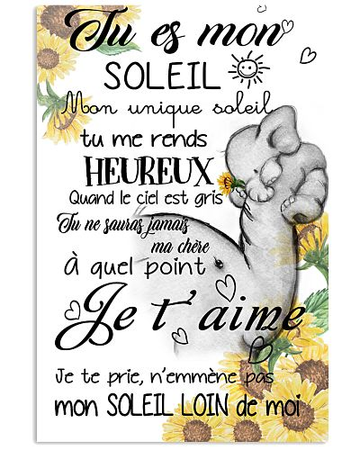elephant poster - you are my sunshine - french vs