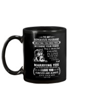 LION - TO MY GORGEOUS HUSBAND Mug back
