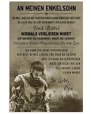 Poster for grandson Never lose DE version  16x24 Poster front