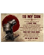 TO MY SON - SAMURAI POSTER 24x16 Poster front