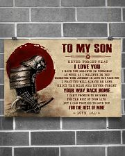 TO MY SON - SAMURAI POSTER 24x16 Poster poster-landscape-24x16-lifestyle-19