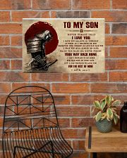 TO MY SON - SAMURAI POSTER 24x16 Poster poster-landscape-24x16-lifestyle-24
