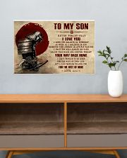 TO MY SON - SAMURAI POSTER 24x16 Poster poster-landscape-24x16-lifestyle-25