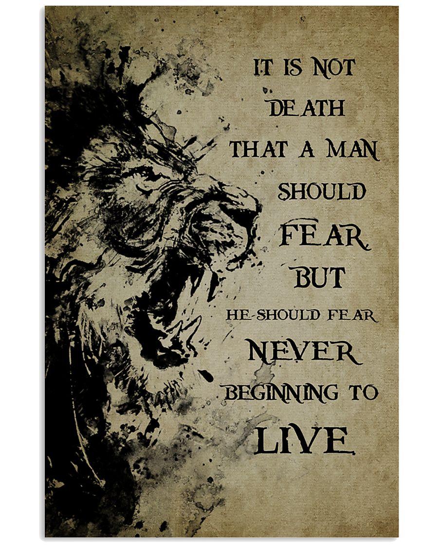 LION - IT IS NOT DEATH 16x24 Poster