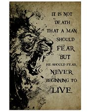 LION - IT IS NOT DEATH 16x24 Poster front