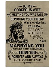 LION - TO MY GORGEOUS WIFE 16x24 Poster front