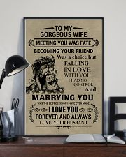 LION - TO MY GORGEOUS WIFE 16x24 Poster lifestyle-poster-2
