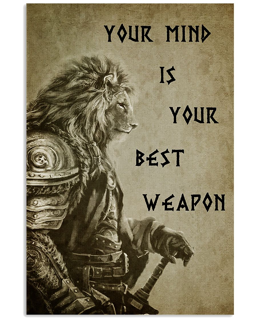 LION - YOUR MIND IS YOUR BEST WEAPON 16x24 Poster