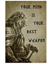 LION - YOUR MIND IS YOUR BEST WEAPON 16x24 Poster front
