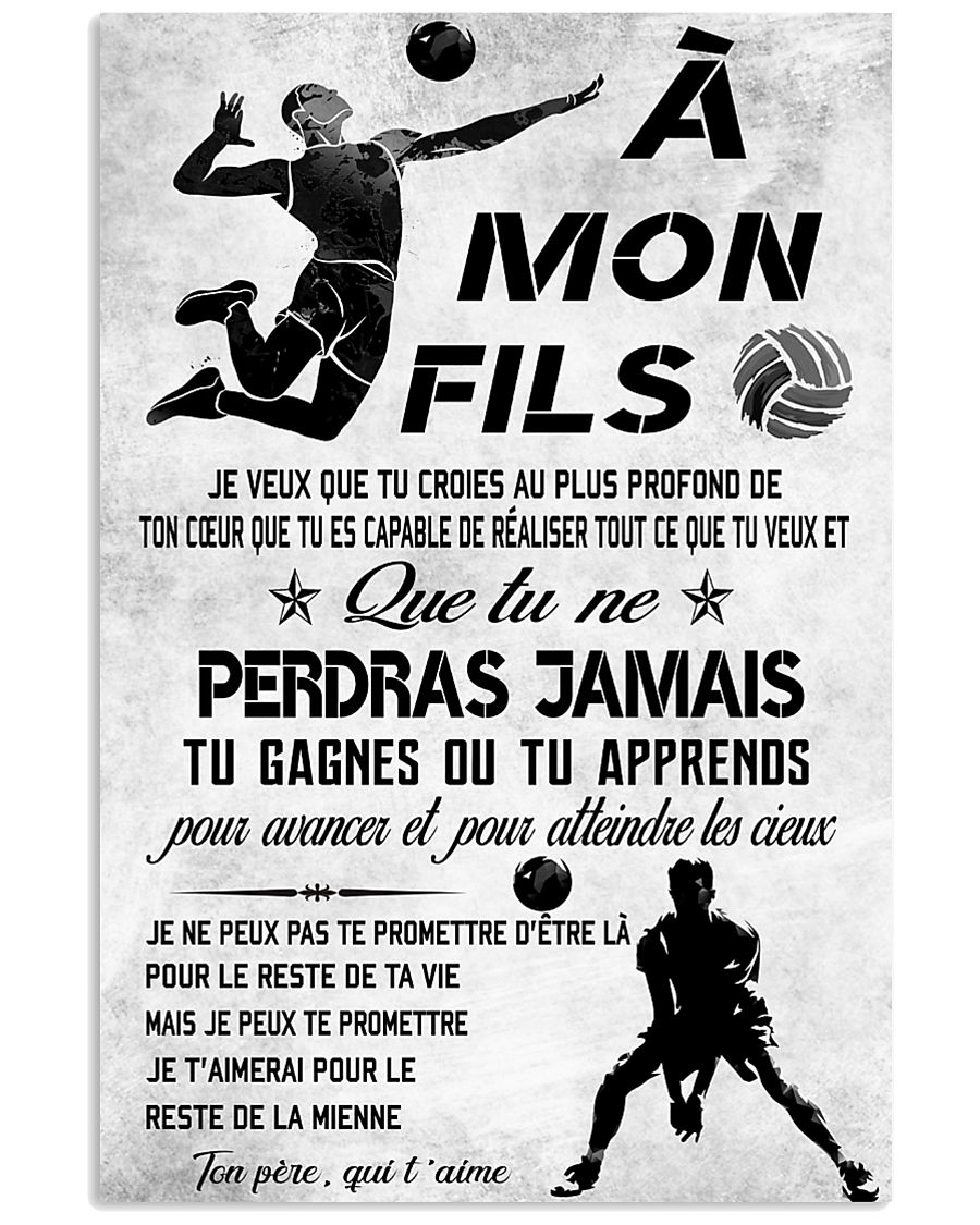 volleyball poster-to son-never lose french vs3 11x17 Poster