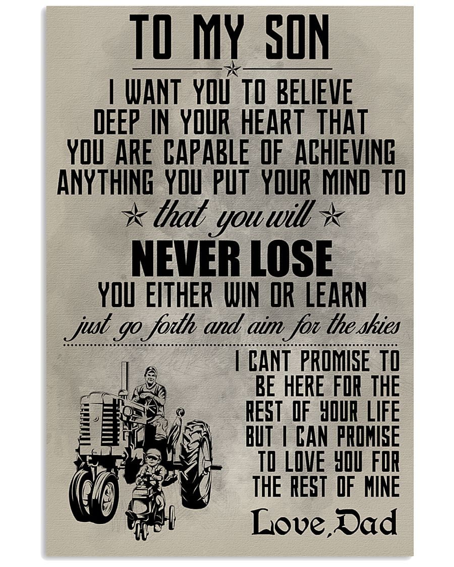 TO MY SON - FARMER POSTER 11x17 Poster