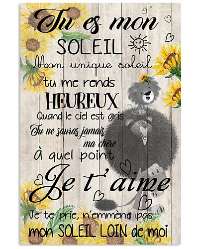 lion poster - You are my sunshine - french vs