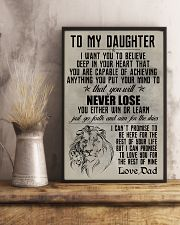 LION - TO MY DAUGHTER 16x24 Poster lifestyle-poster-3
