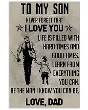 TO MY SON - FISHING  11x17 Poster front