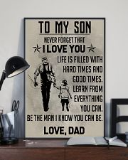 TO MY SON - FISHING  11x17 Poster lifestyle-poster-2