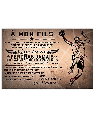 basketball poster - to son-never lose french vs2