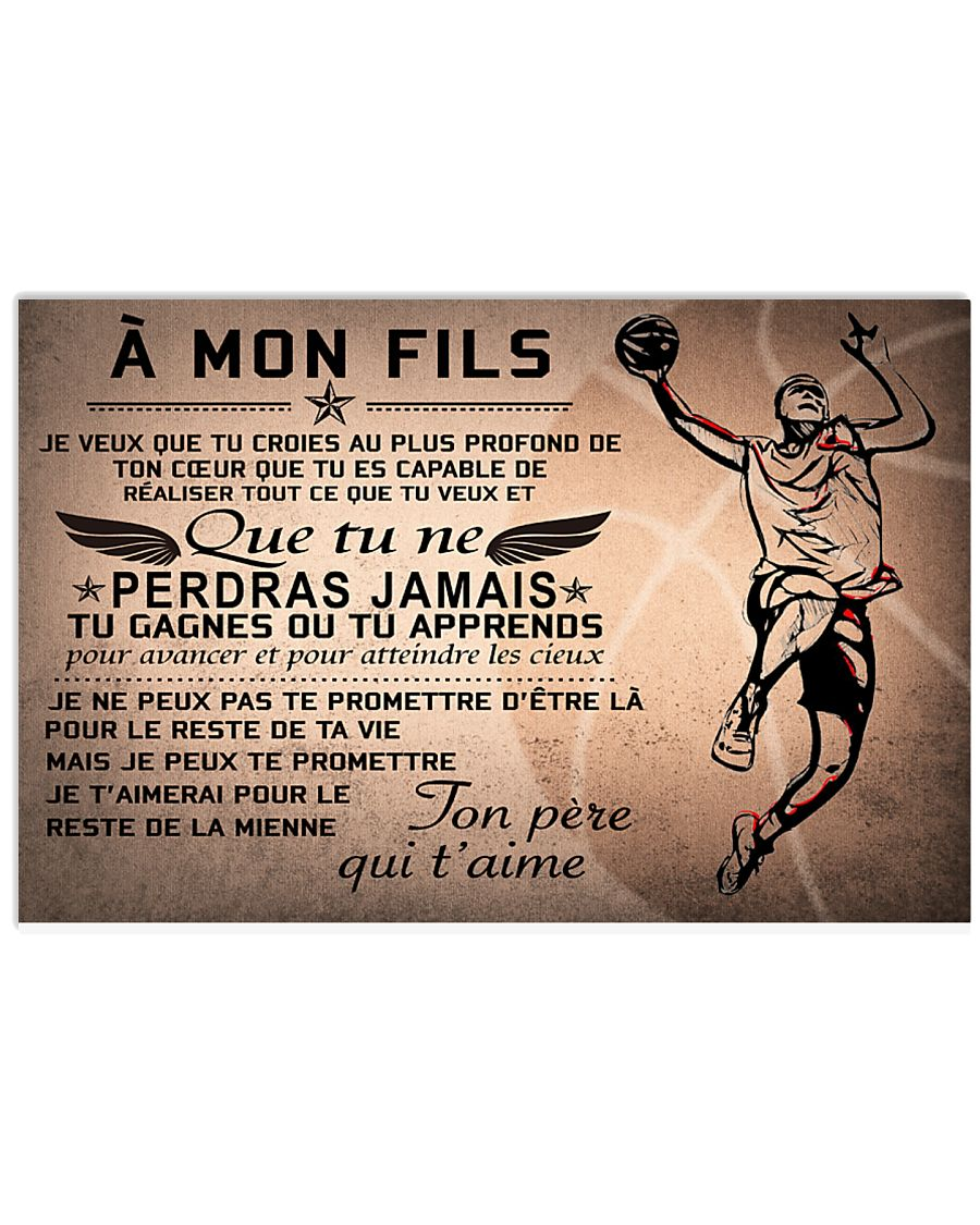 basketball poster - to son-never lose french vs2 17x11 Poster