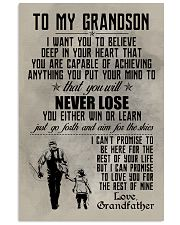 FISHING POSTER TO GRANDSON N034 11x17 Poster front