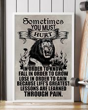 LION - SOMETIMES YOU MUST HURT 16x24 Poster lifestyle-poster-4