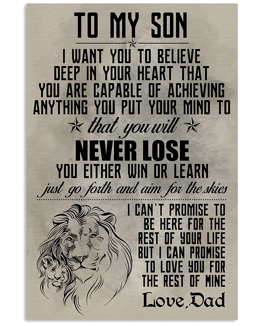 LION - TO MY SON 16x24 Poster