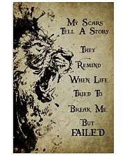 LION - MY SCARS TELL A STORY 11x17 Poster front