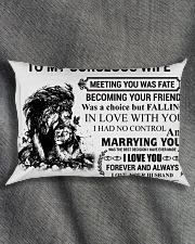 LION - TO MY GORGEOUS WIFE Rectangular Pillowcase aos-pillow-rectangle-front-lifestyle-1