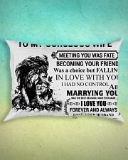 LION - TO MY GORGEOUS WIFE Rectangular Pillowcase aos-pillow-rectangle-front-lifestyle-3