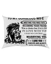 LION - TO MY GORGEOUS WIFE Rectangular Pillowcase back