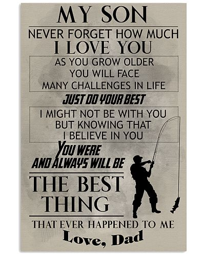 FISHING POSTER - TO MY SON