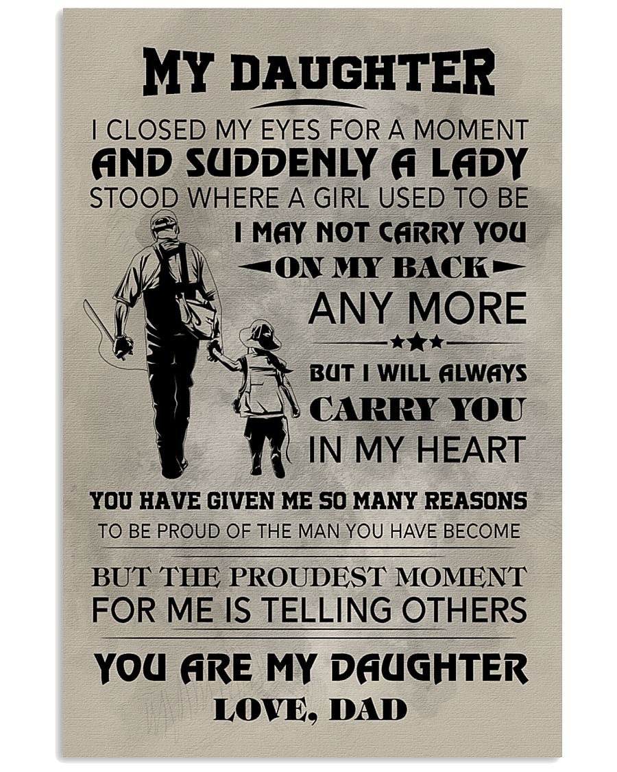 FISHING POSTER FOR DAUGHTER 11x17 Poster