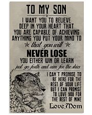 LION - TO MY SON 16x24 Poster front